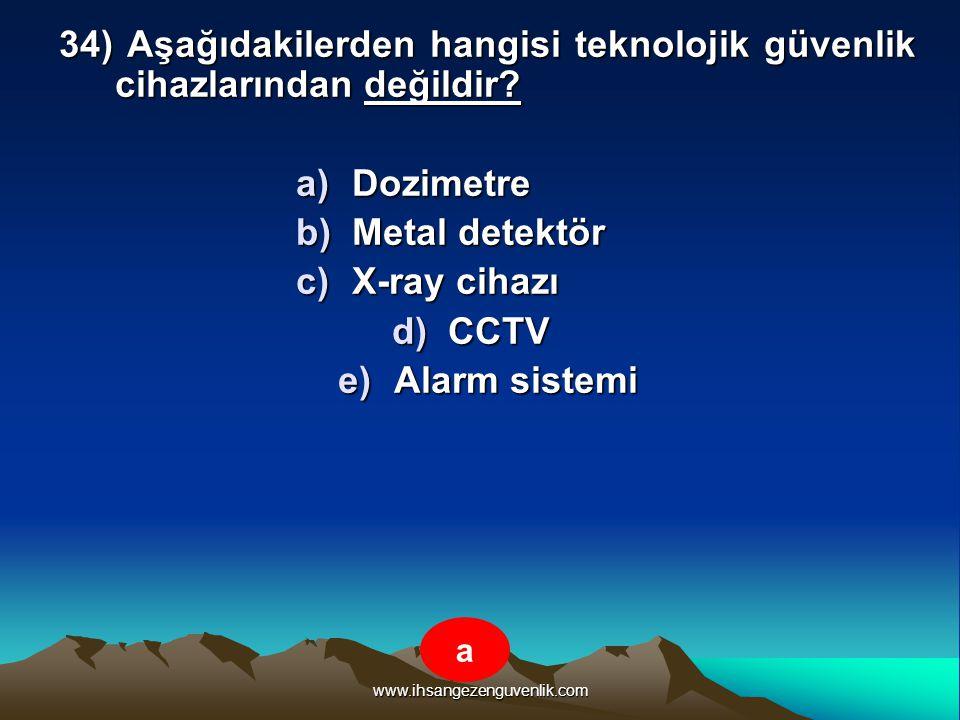 Dozimetre Metal detektör X-ray cihazı CCTV Alarm sistemi