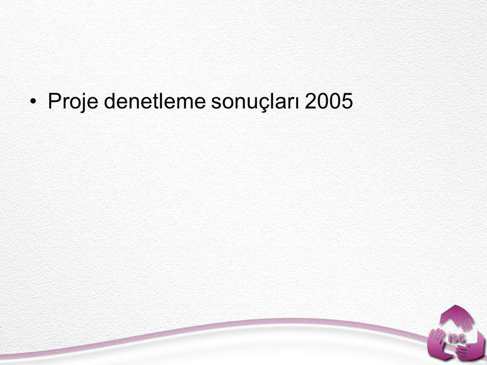 Proje denetleme sonuçları 2005