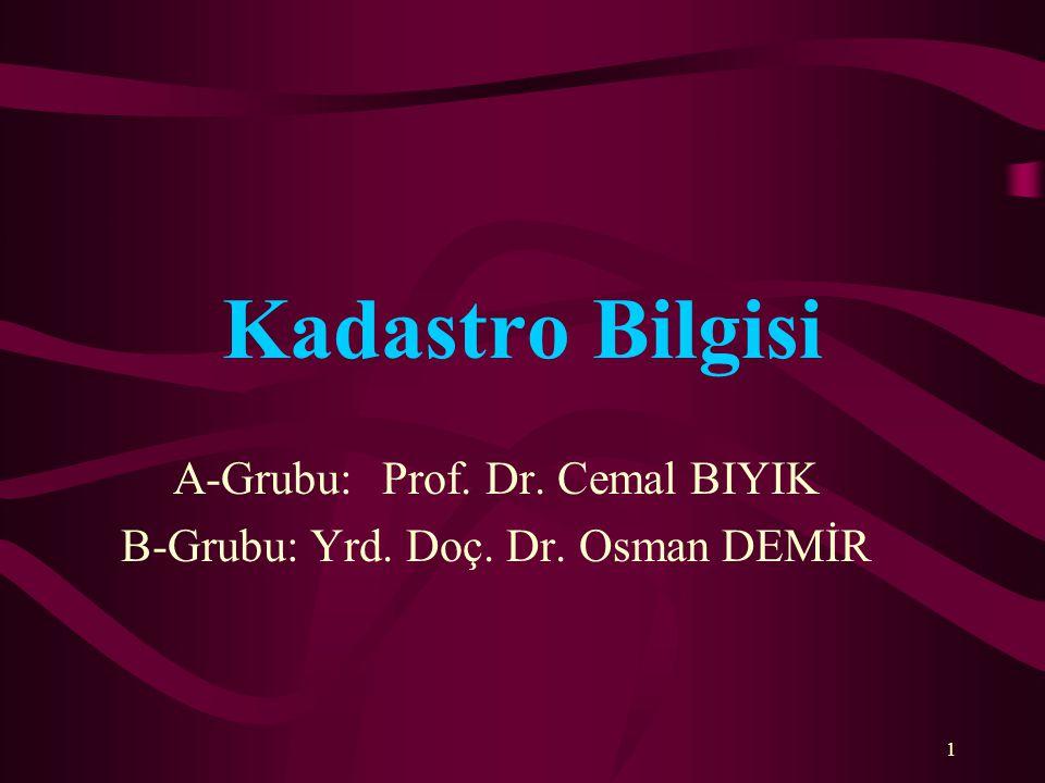 A-Grubu: Prof. Dr. Cemal BIYIK B-Grubu: Yrd. Doç. Dr. Osman DEMİR