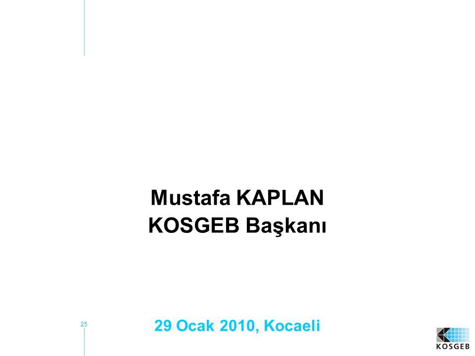 Mustafa KAPLAN KOSGEB Başkanı