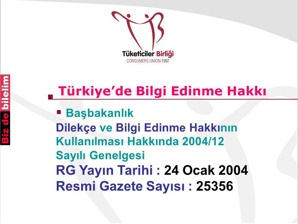 Türkiye'de Bilgi Edinme Hakkı
