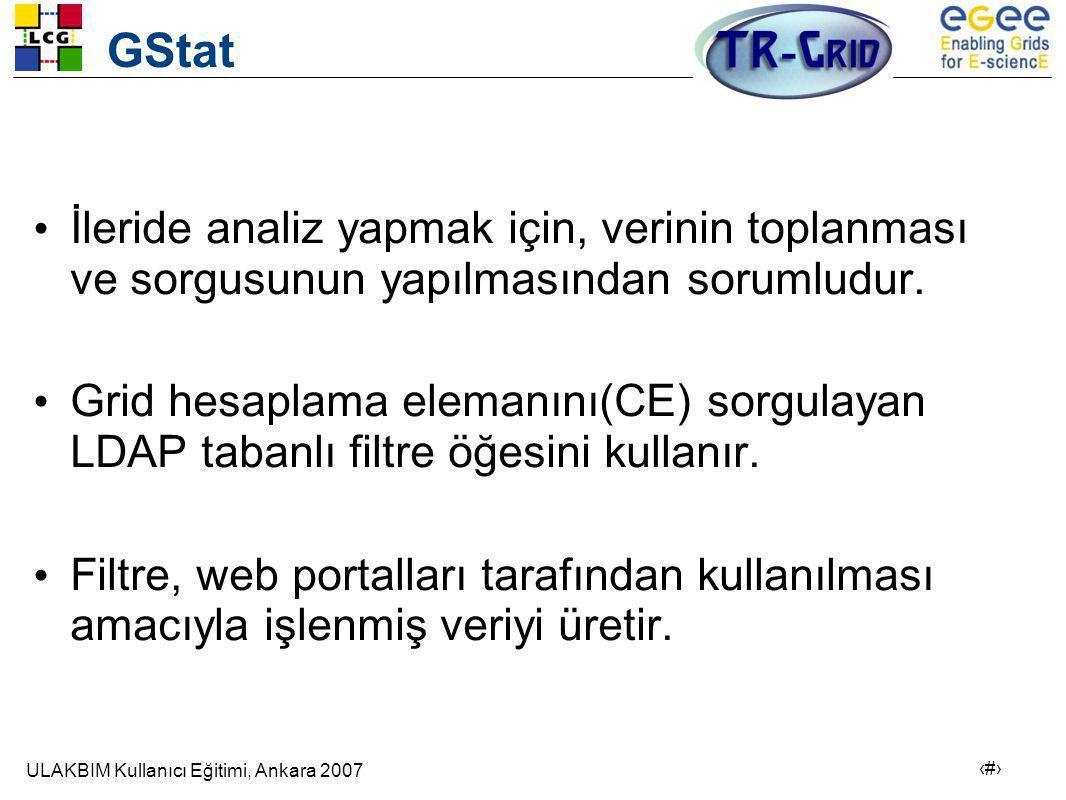 GStat İleride analiz yapmak için, verinin toplanması ve sorgusunun yapılmasından sorumludur.