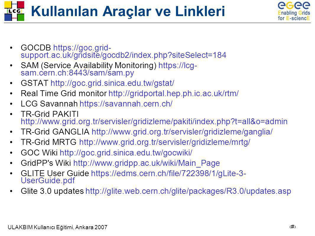 Kullanılan Araçlar ve Linkleri