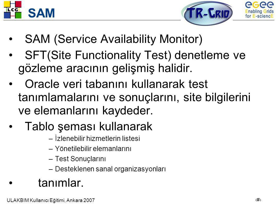 SAM SAM (Service Availability Monitor)