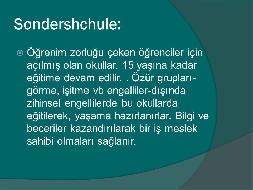 Sondershchule: