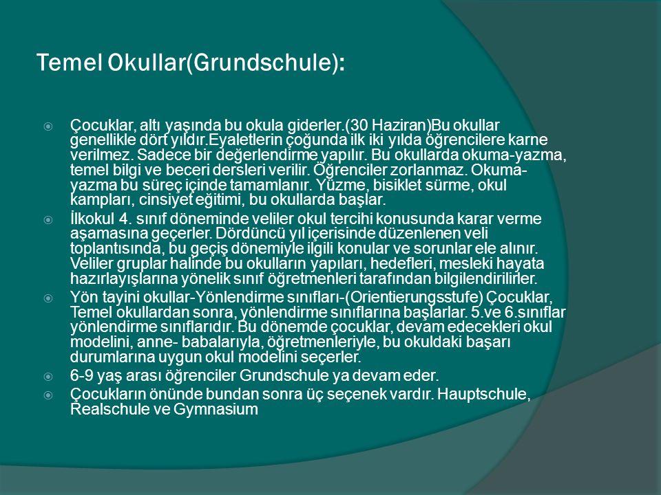 Temel Okullar(Grundschule):