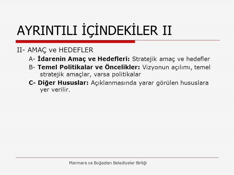 AYRINTILI İÇİNDEKİLER II