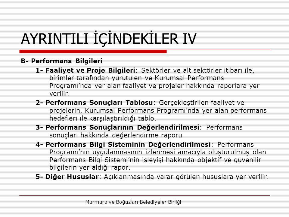 AYRINTILI İÇİNDEKİLER IV