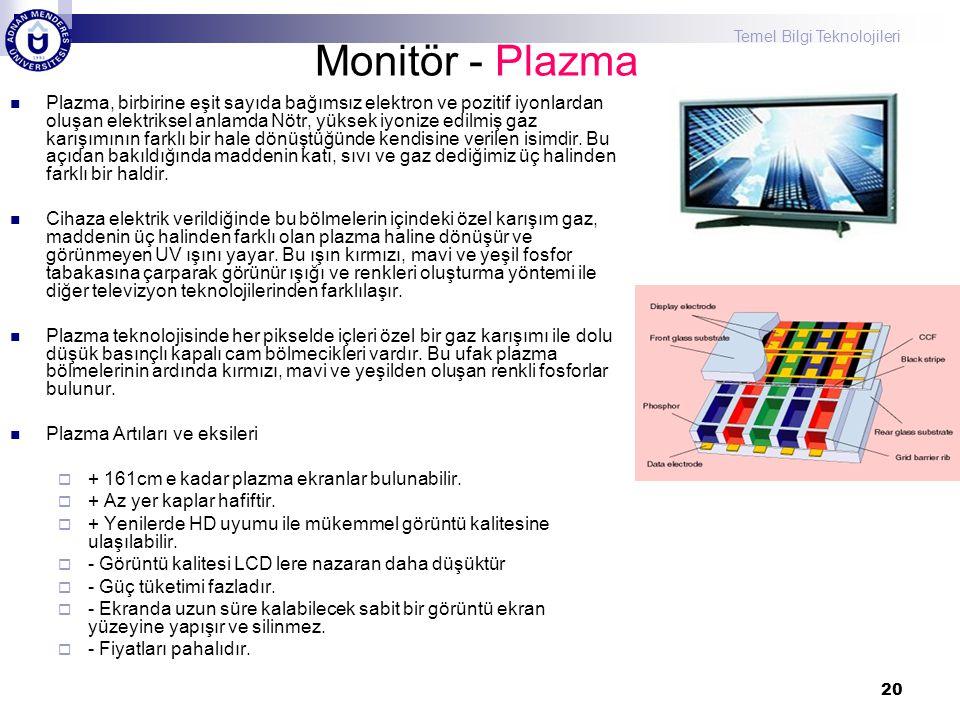 Monitör - Plazma