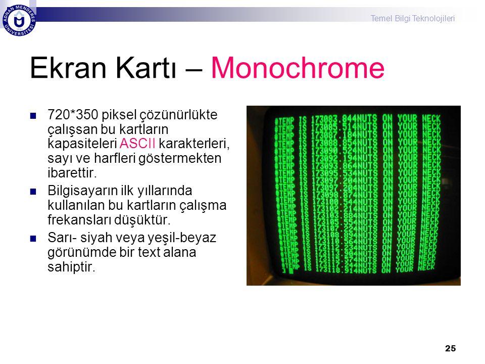 Ekran Kartı – Monochrome