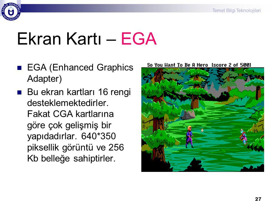 Ekran Kartı – EGA EGA (Enhanced Graphics Adapter)