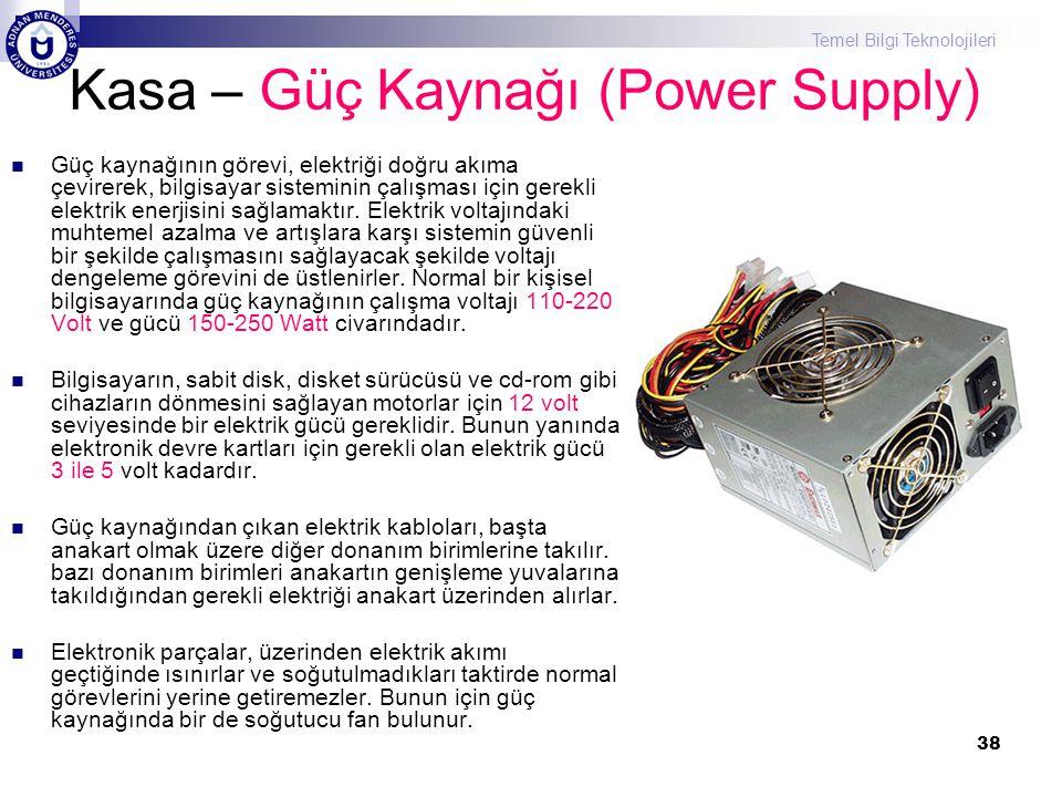 Kasa – Güç Kaynağı (Power Supply)