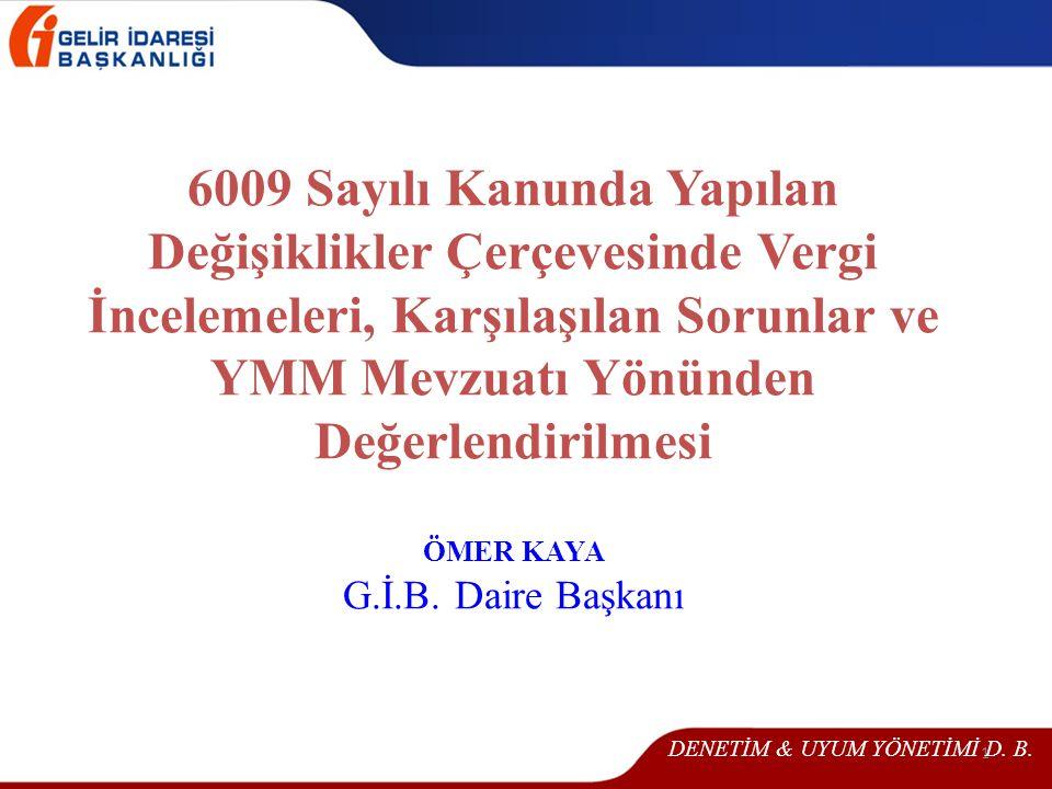 DENETİM & UYUM YÖNETİMİ D. B.