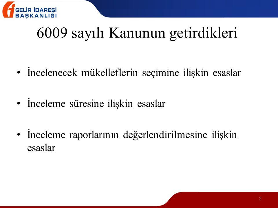 6009 sayılı Kanunun getirdikleri