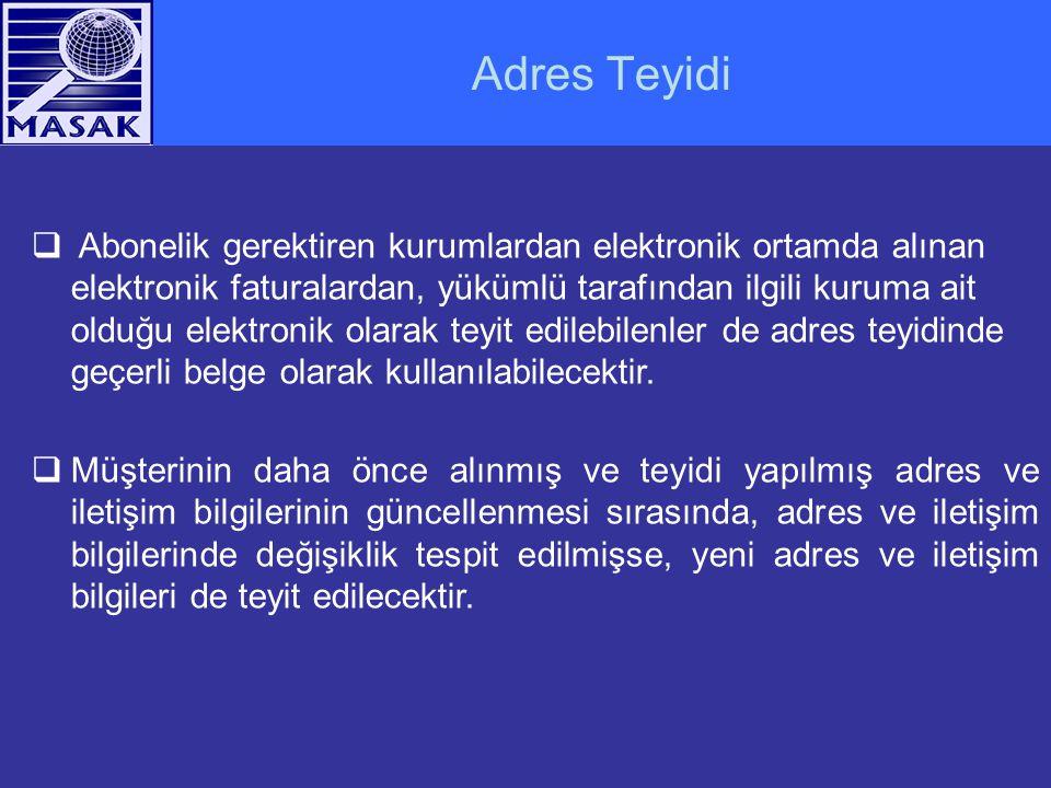 Adres Teyidi