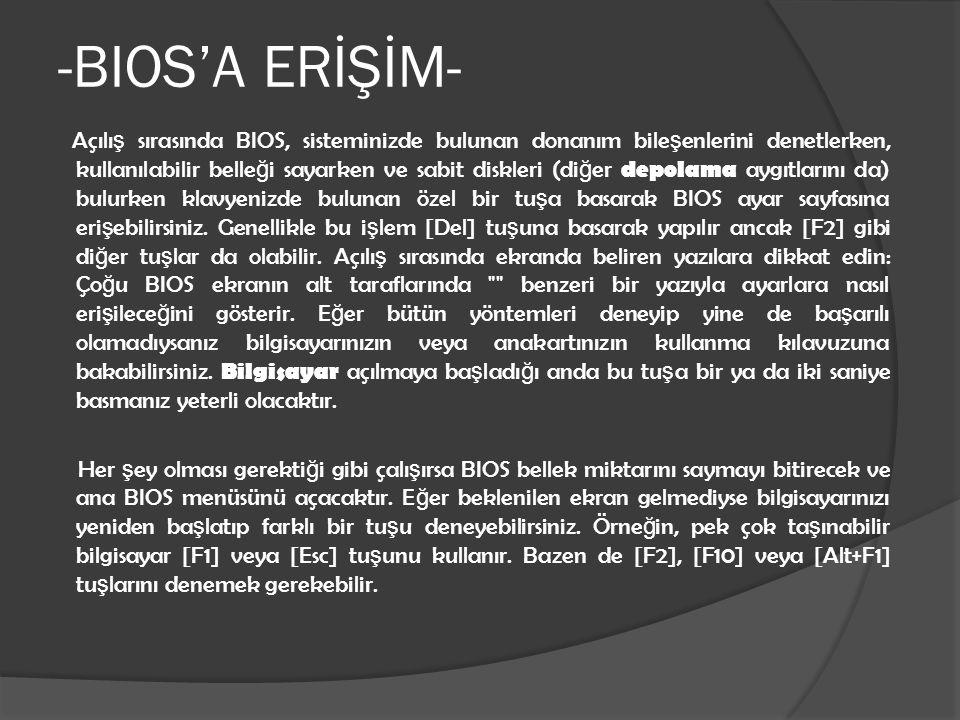 -BIOS'A ERİŞİM-