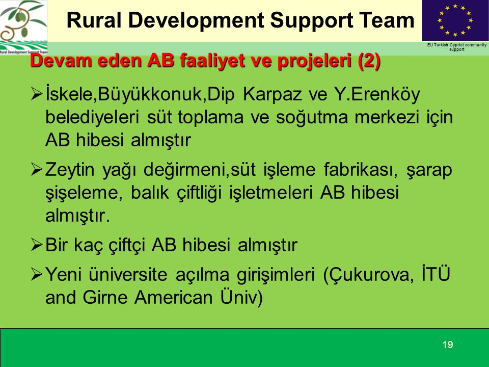 Devam eden AB faaliyet ve projeleri (2)