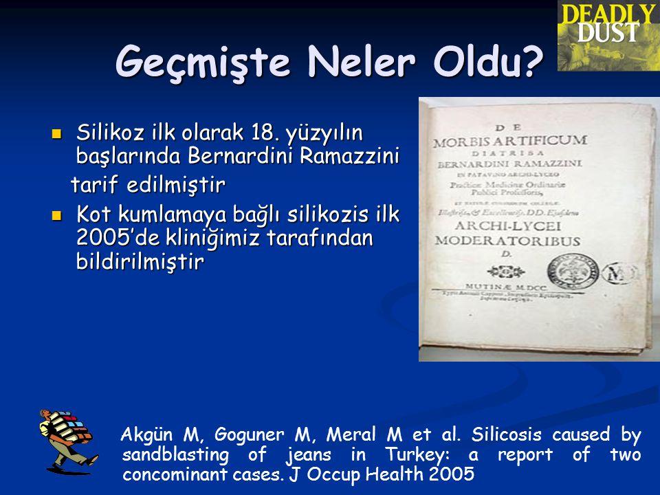 Geçmişte Neler Oldu Silikoz ilk olarak 18. yüzyılın başlarında Bernardini Ramazzini. tarif edilmiştir.