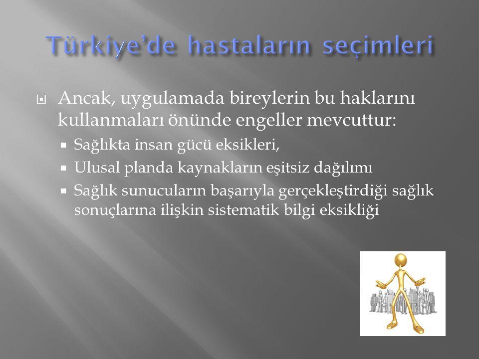 Türkiye'de hastaların seçimleri