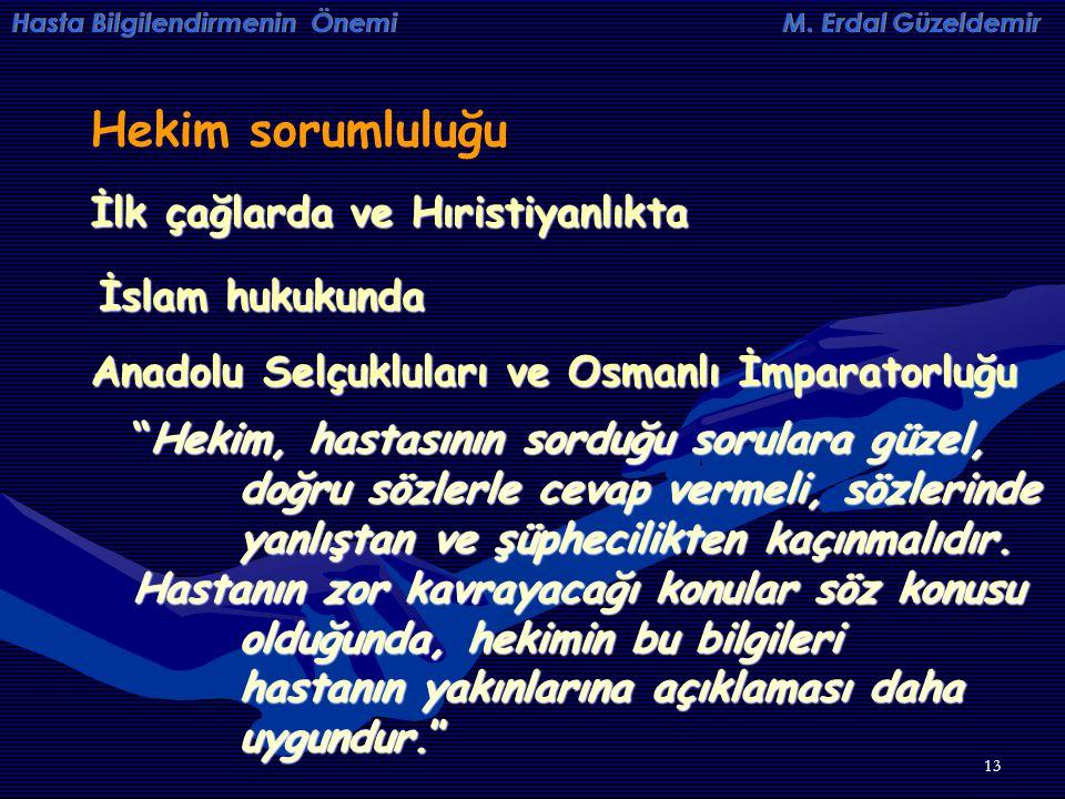 Hekim sorumluluğu İlk çağlarda ve Hıristiyanlıkta İslam hukukunda