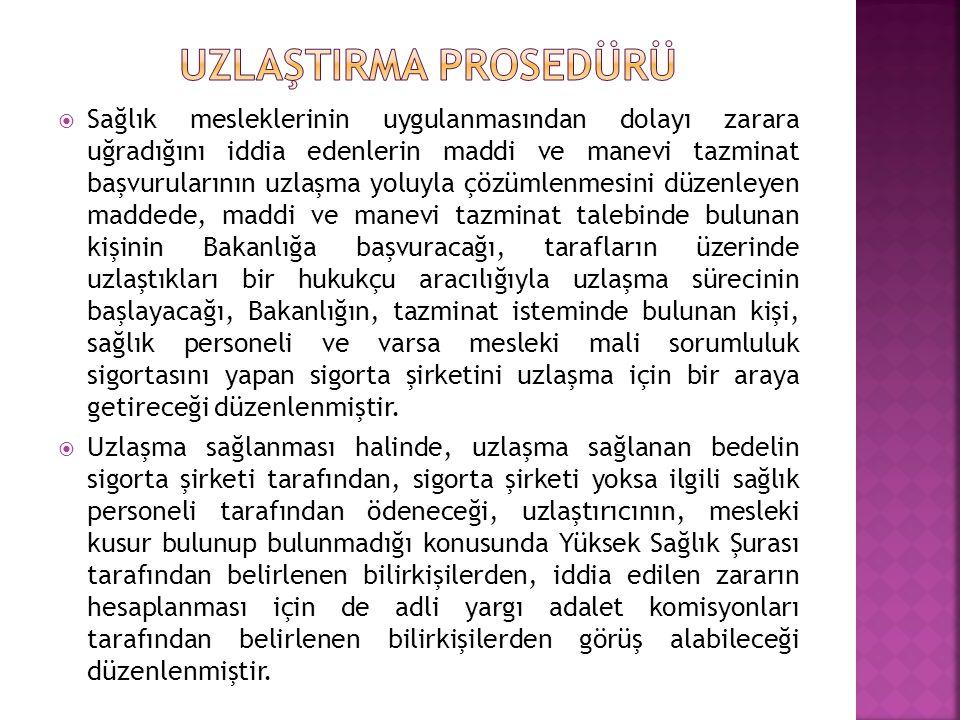 UZLAŞTIRMA PROSEDÜRÜ