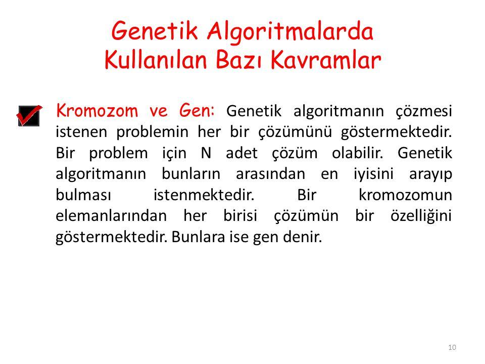 Genetik Algoritmalarda Kullanılan Bazı Kavramlar