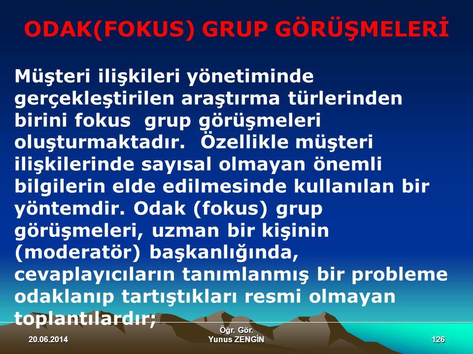 ODAK(FOKUS) GRUP GÖRÜŞMELERİ