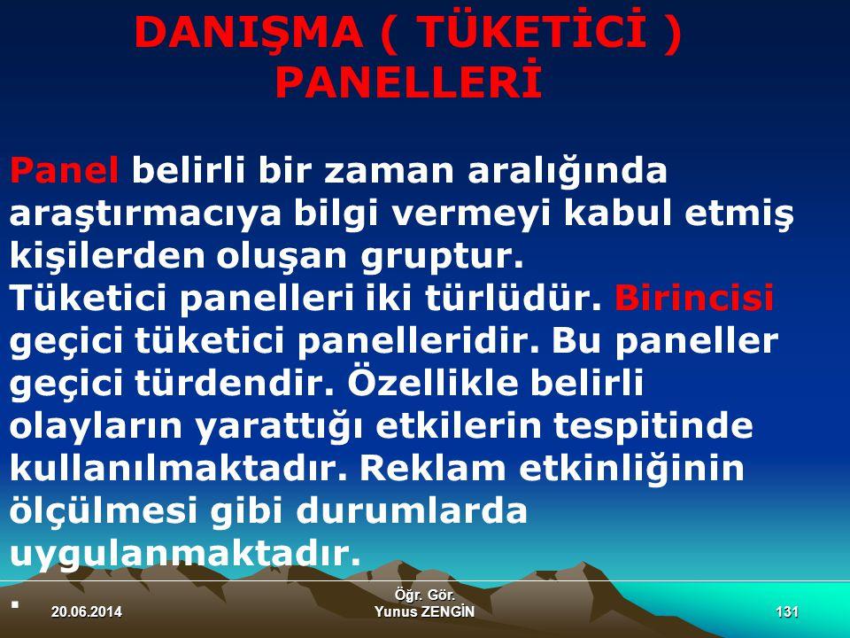 DANIŞMA ( TÜKETİCİ ) PANELLERİ