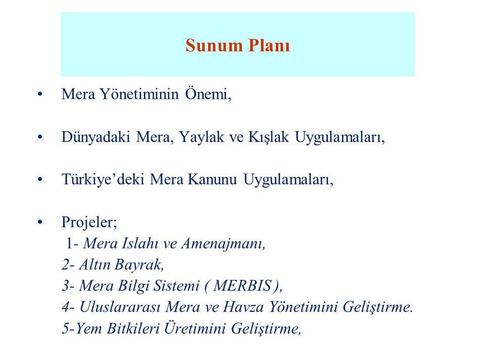 Sunum Planı Mera Yönetiminin Önemi,