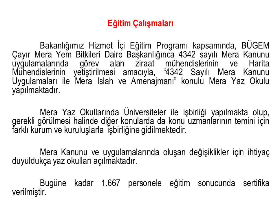 Bugüne kadar 1.667 personele eğitim sonucunda sertifika verilmiştir.