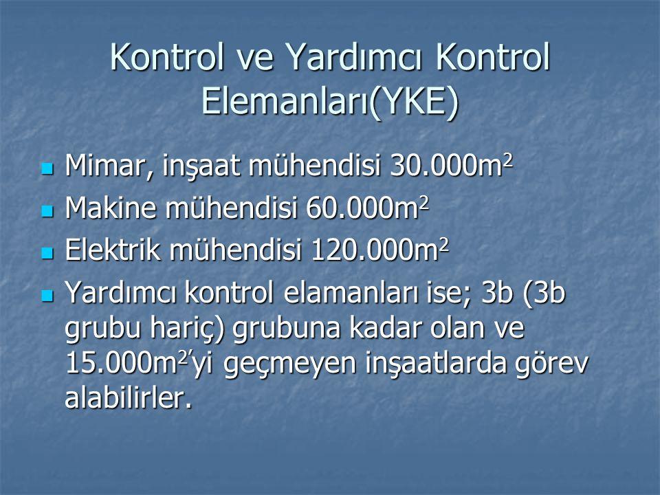 Kontrol ve Yardımcı Kontrol Elemanları(YKE)