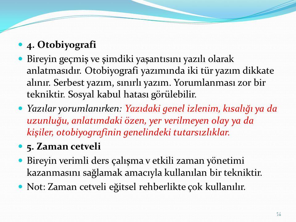 4. Otobiyografi