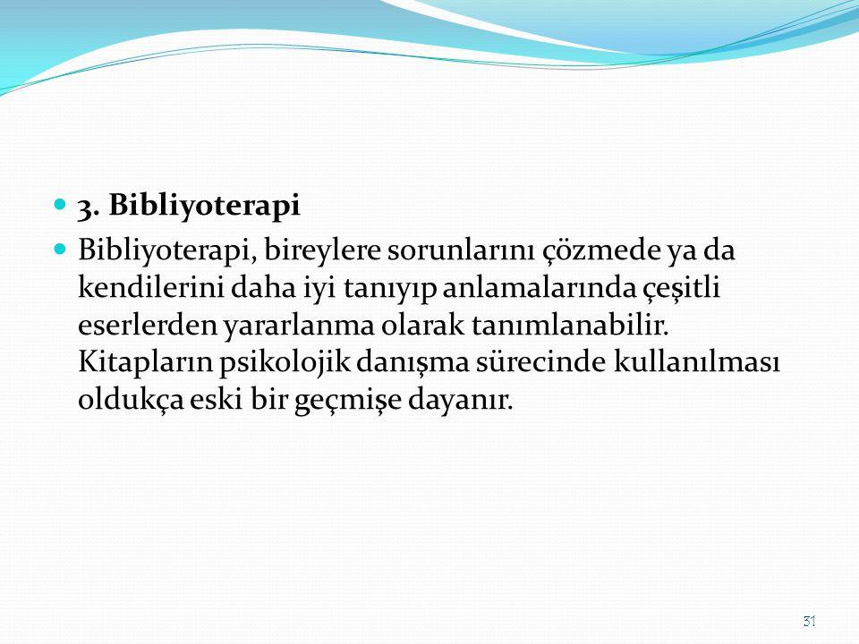 3. Bibliyoterapi