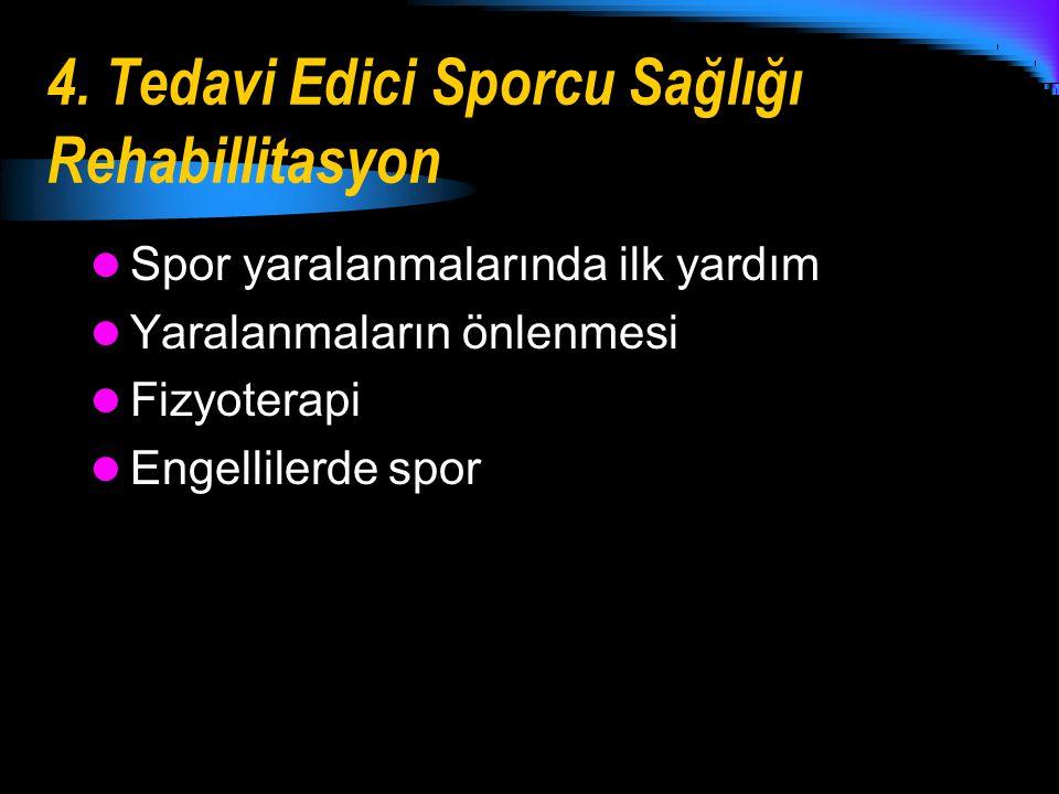 4. Tedavi Edici Sporcu Sağlığı Rehabillitasyon