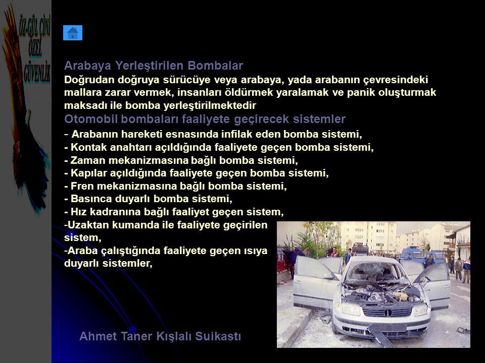 Arabaya Yerleştirilen Bombalar