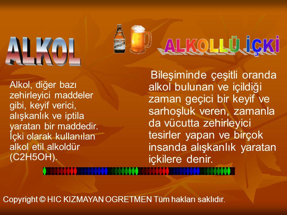 ALKOL ALKOLLÜ İÇKİ.