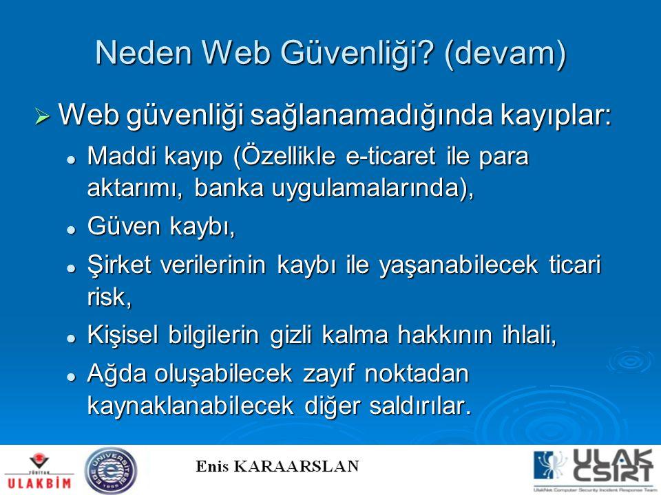 Neden Web Güvenliği (devam)