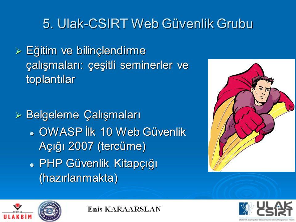 5. Ulak-CSIRT Web Güvenlik Grubu
