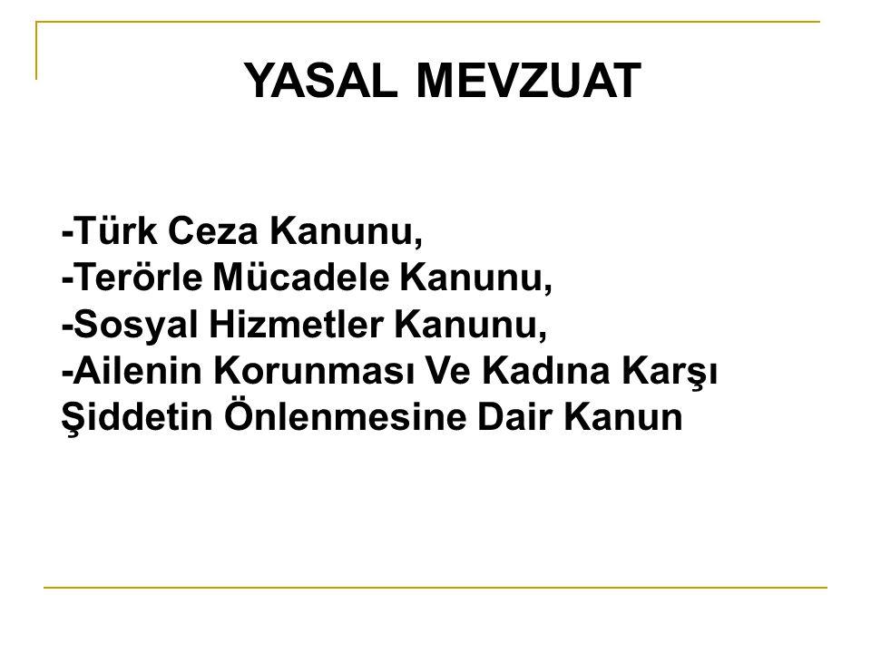 YASAL MEVZUAT -Türk Ceza Kanunu, -Terörle Mücadele Kanunu,