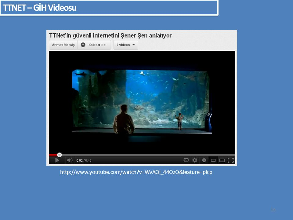 TTNET – GİH Videosu http://www.youtube.com/watch v=WvAQl_44OzQ&feature=plcp