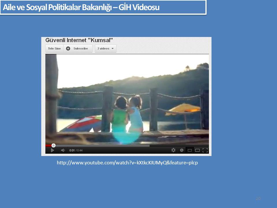 Aile ve Sosyal Politikalar Bakanlığı – GİH Videosu