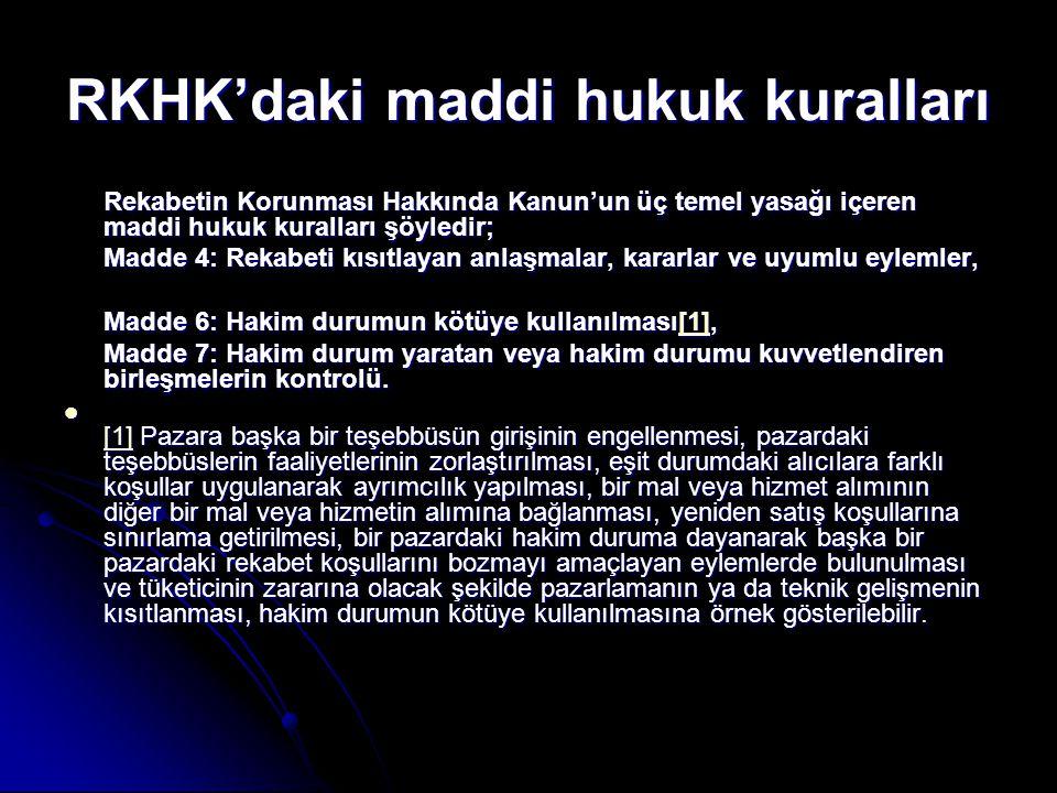 RKHK'daki maddi hukuk kuralları