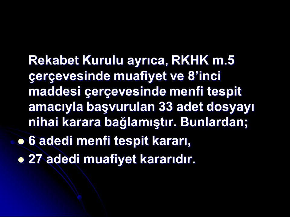 Rekabet Kurulu ayrıca, RKHK m