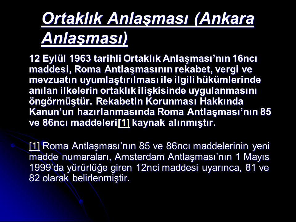 Ortaklık Anlaşması (Ankara Anlaşması)