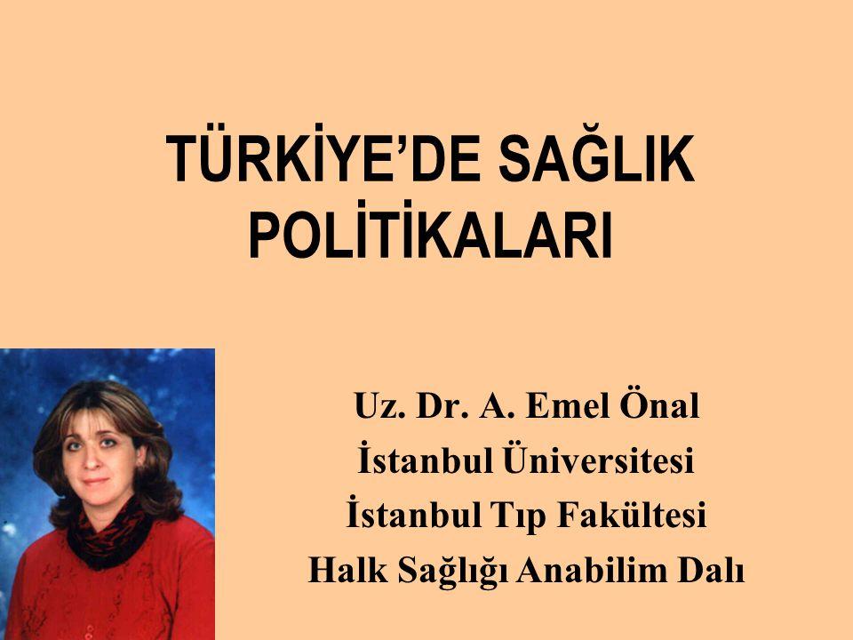 TÜRKİYE'DE SAĞLIK POLİTİKALARI