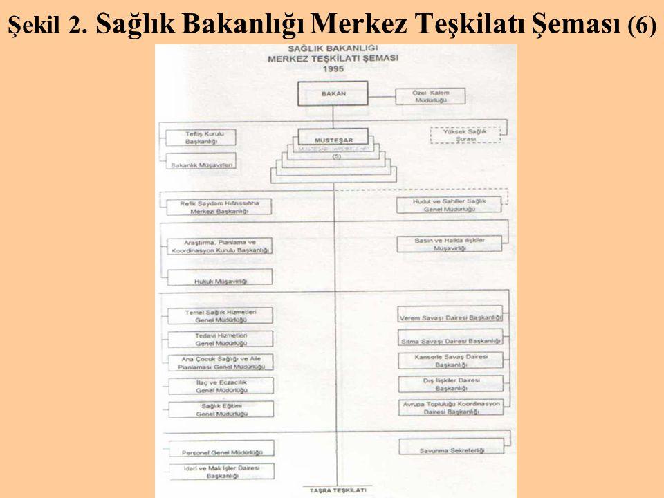 Şekil 2. Sağlık Bakanlığı Merkez Teşkilatı Şeması (6)