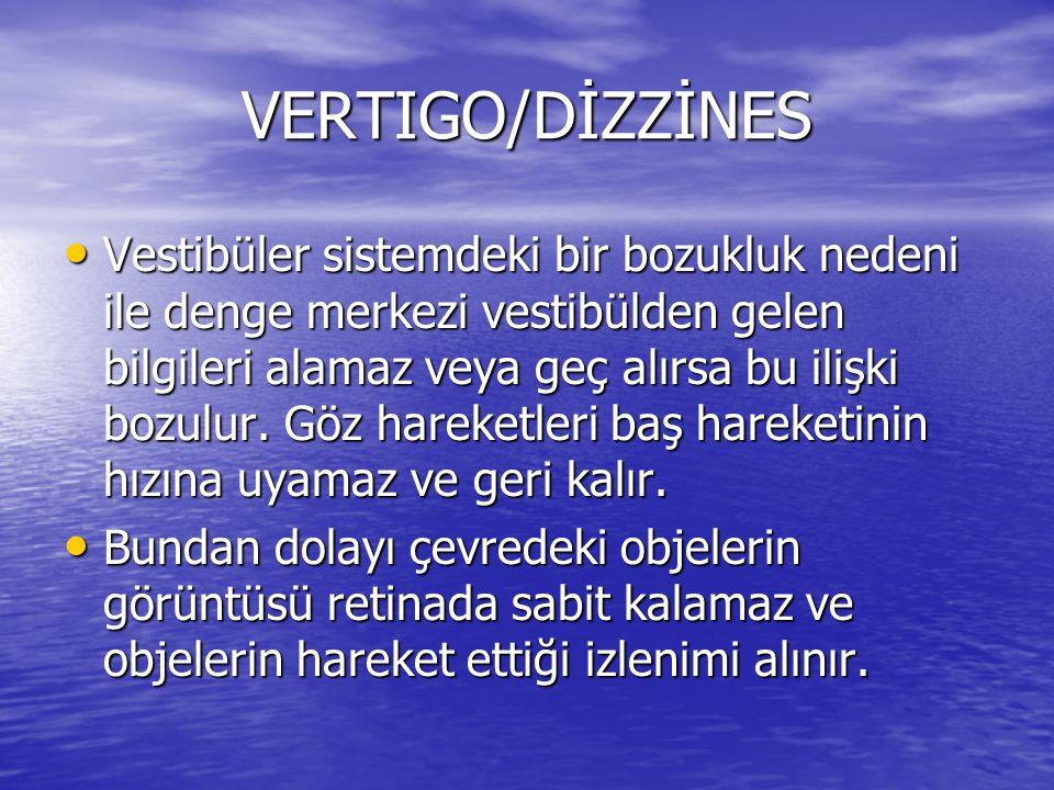 VERTIGO/DİZZİNES