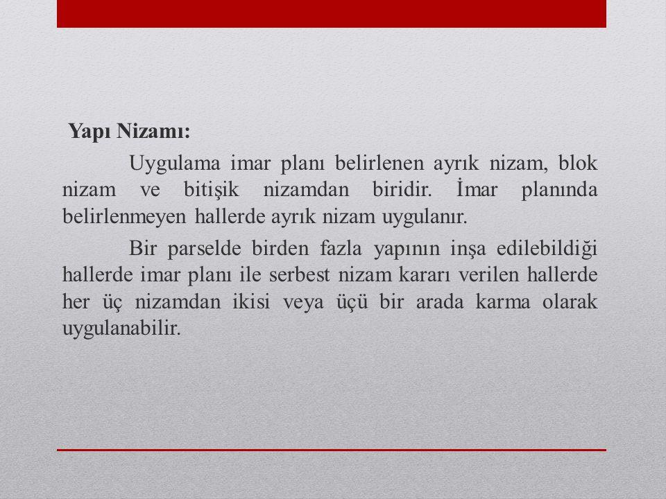 Yapı Nizamı: