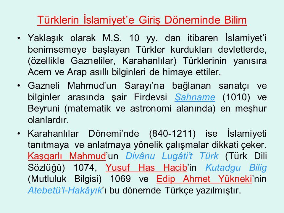 Türklerin İslamiyet'e Giriş Döneminde Bilim
