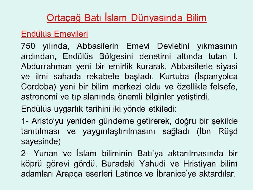 Ortaçağ Batı İslam Dünyasında Bilim
